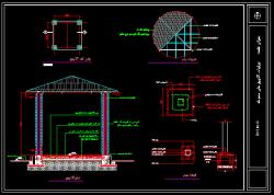 دانلود اتوکد نقشه سازه، جزییات اجرایی آلاچیق